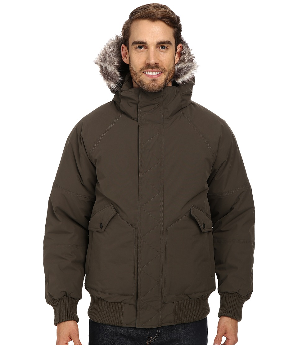 The North Face - Warrent Bomber (Black Ink Green) Men's Coat