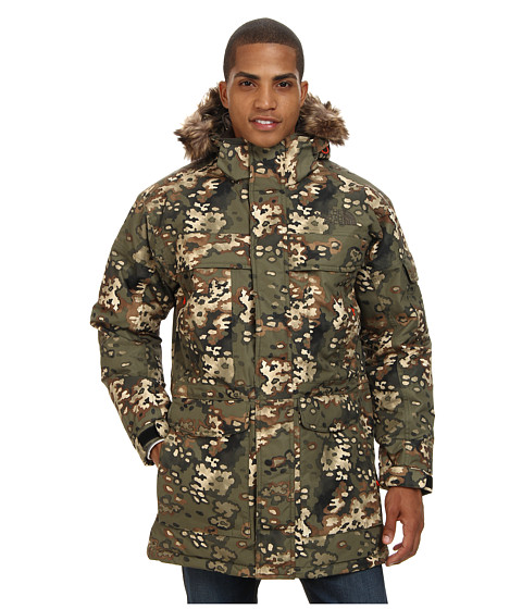 The North Face - McMurdo Parka (Military Green Camo Print) Men