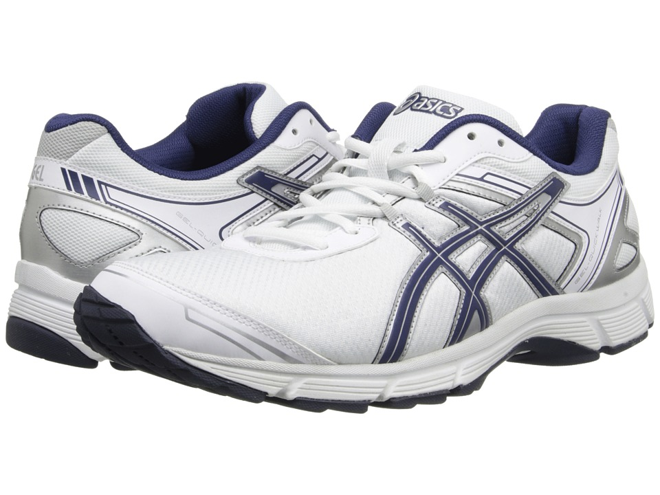 ASICS - GEL-Quickwalk 2 (White/Navy/Silver) Men's Walking Shoes