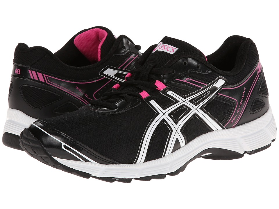 ASICS - GEL-Quickwalk 2 (Black/White/Pink) Women's Running Shoes