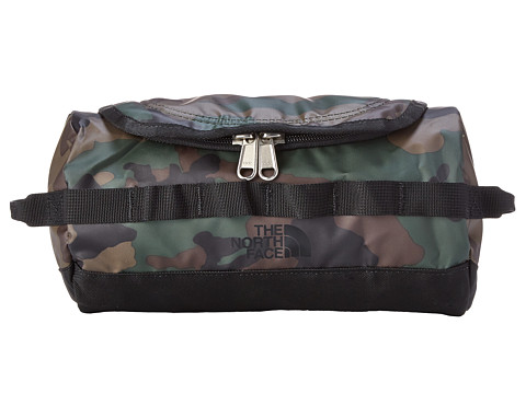 The North Face - Base Camp Travel Canister - Small (Military Green Woodland Print/TNF Black) Luggage