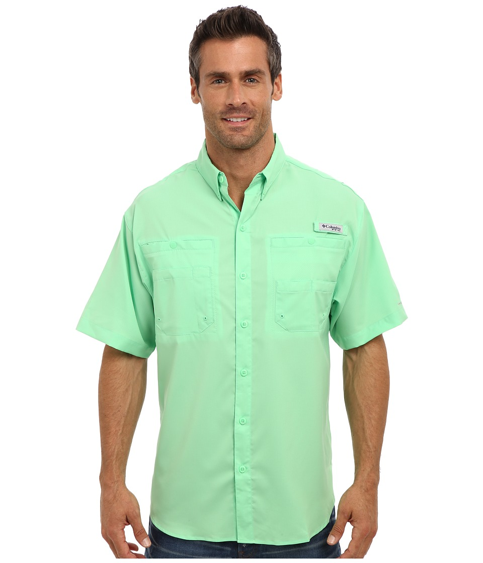 Columbia Tamiami II S-S Chameleon Green Mens Short Sleeve Button Up