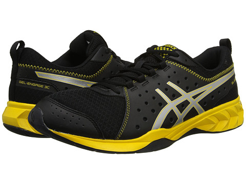 ASICS - GEL-Engage 3C (Black/Silver/Yellow) Men's Shoes