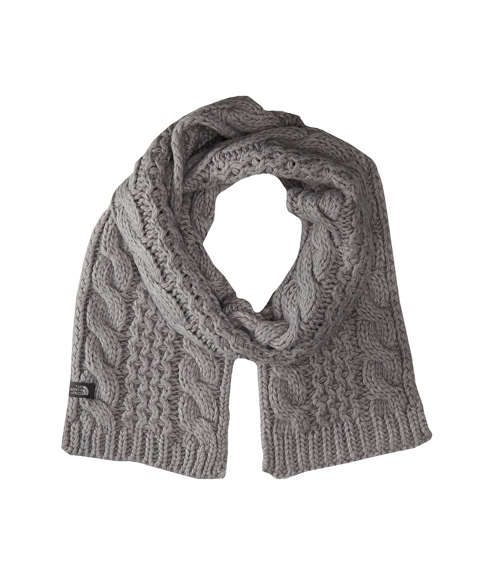 The North Face - Cable Minna Scarf (Metallic Silver) Scarves