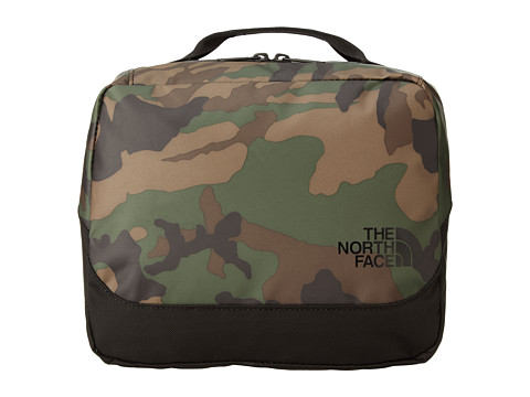 The North Face - Base Camp Flat Travel Kit (Military Green Woodland Print/TNF Black) Toiletries Case