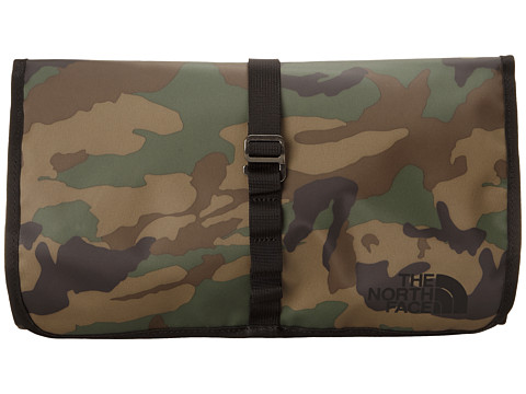 The North Face - Base Camp Roll Kit (Military Green Woodland Print/TNF Black) Toiletries Case