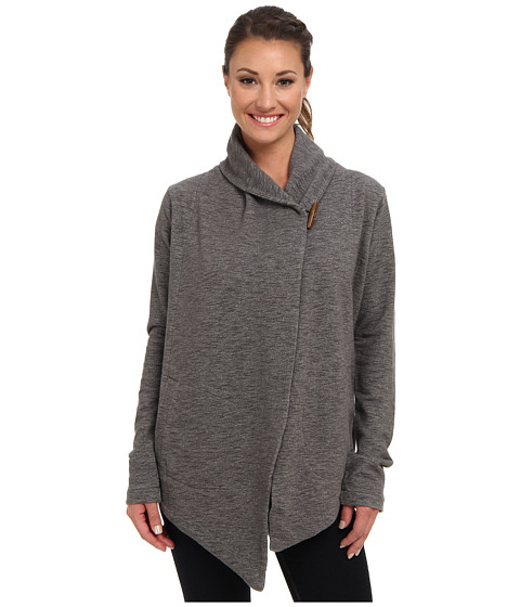 The North Face - Fallsgrove Wrap (Charcoal Grey Heather) Women's Long Sleeve Pullover