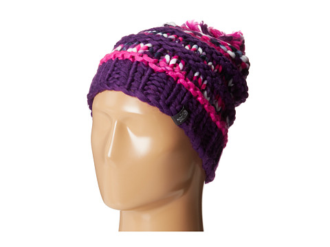 The North Face - Nanny Knit Beanie (Azalea Pink/Gravity Purple) Beanies