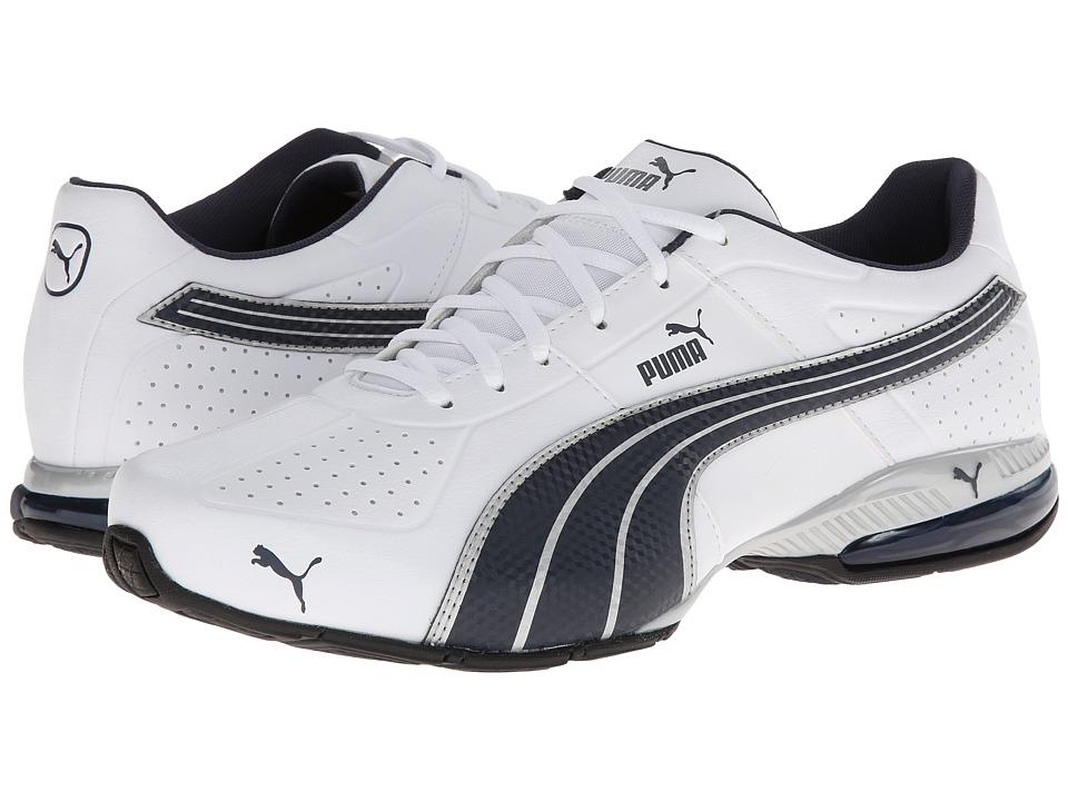 PUMA - Cell Surin (White/New Navy/Puma Silver) Men's Shoes