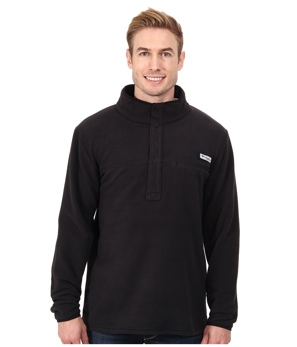 Columbia - Harborside Fleece Pullover (Black) Men's Long Sleeve Pullover