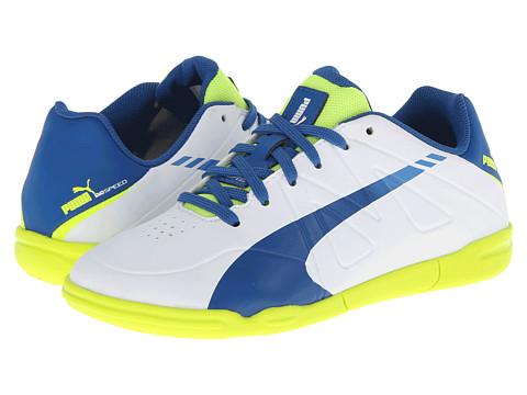 Puma Kids - PUMA evoSPEED Star III JR (Little Kid/Big Kid) (White/Snorkel Blue/Fluro Yellow) Kids Shoes