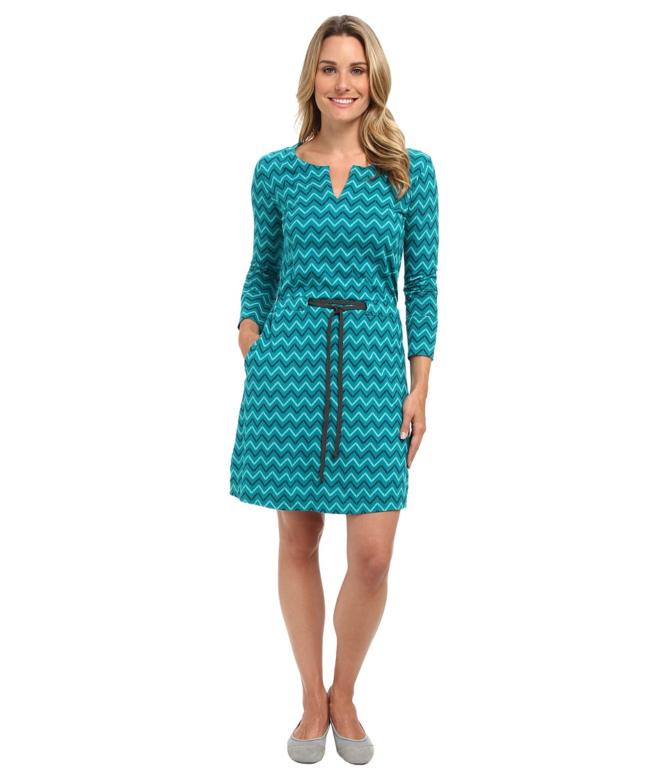 The North Face - Starrett Dress (Fanfare Green Zigzag Print) Women's Dress