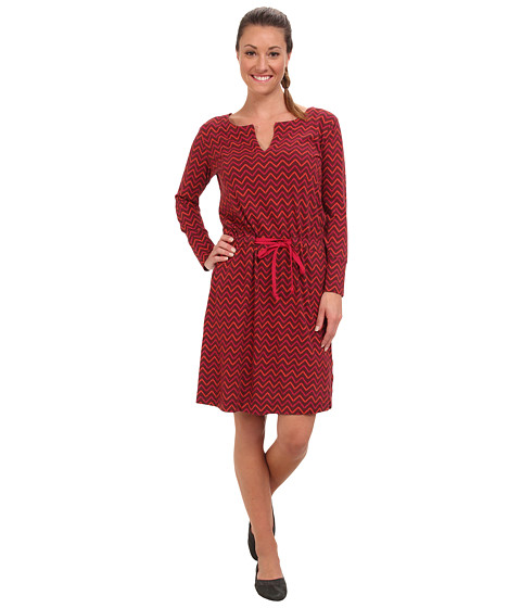 The North Face - Starrett Dress (Sequoia Red Zigzag Print) Women