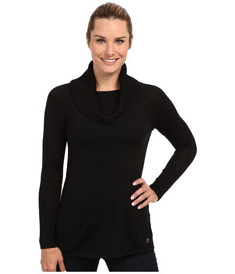 Smartwool - Minturn Drape Neck Top (Black) Women's Sweater