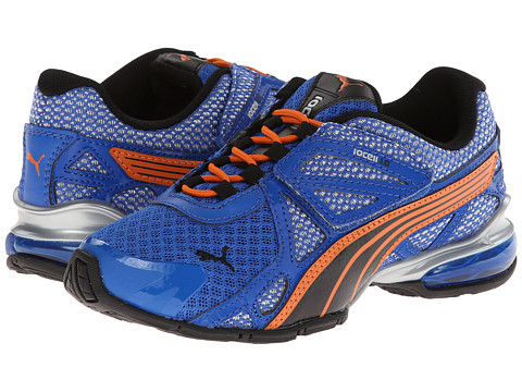 Puma Kids - Voltaic 5 (Toddler/Little Kid/Big Kid) (Princess Blue/Back/Vibrant Orange) Boys Shoes