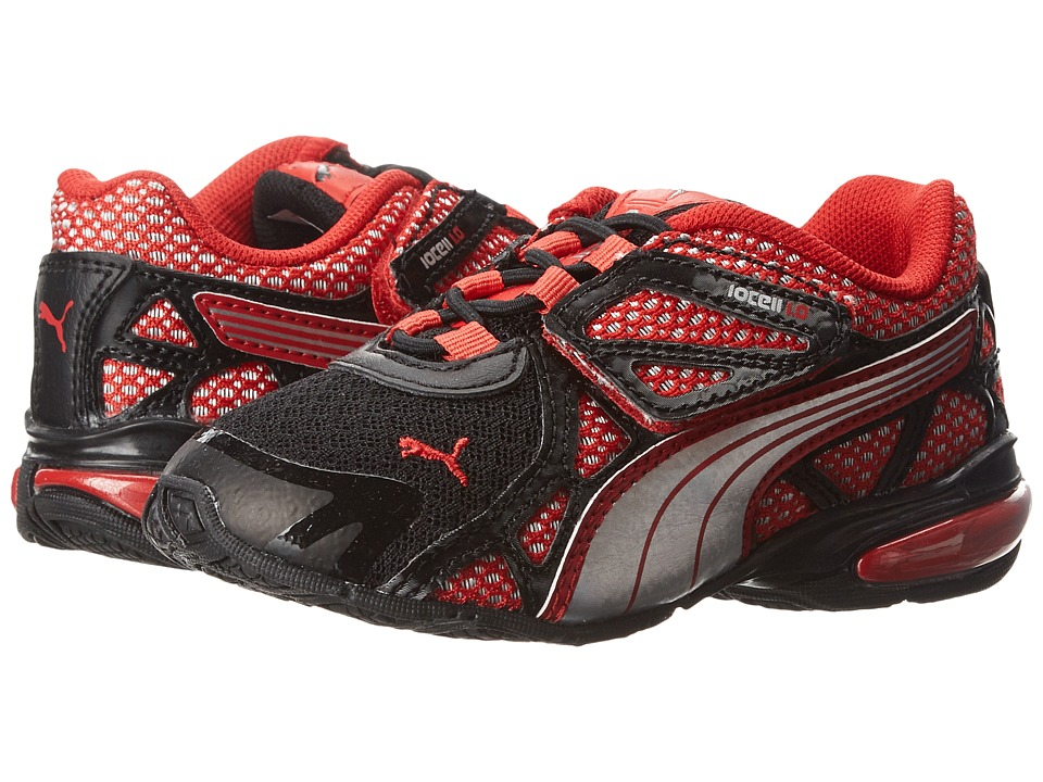 Puma Kids - Voltaic 5 (Toddler/Little Kid/Big Kid) (Black/High Risk Red/Puma Silver) Boys Shoes