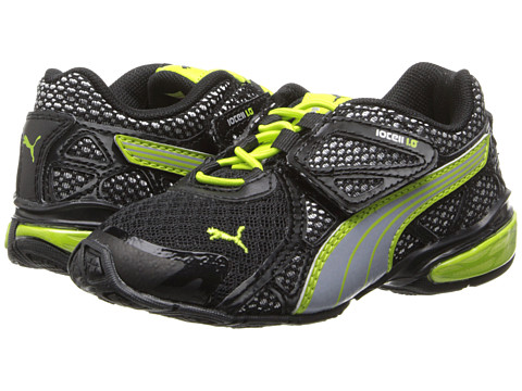 Puma Kids - Voltaic 5 (Toddler/Little Kid/Big Kid) (Black/Tradewinds/Lime Punch) Boys Shoes