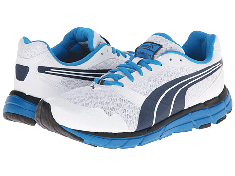 PUMA - Poseidon (White/Majolica Blue/Methyl Blue) Men's Shoes