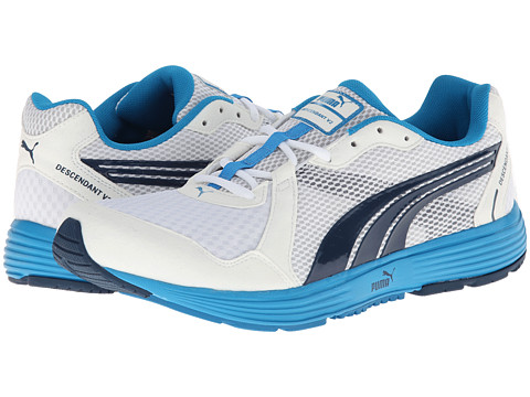 PUMA - Descendant v2 (White/Majolica Blue) Men's Shoes
