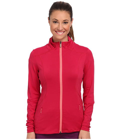 Lole - Essential Full Zip Cardigan (Red Sea) Women's Sweatshirt