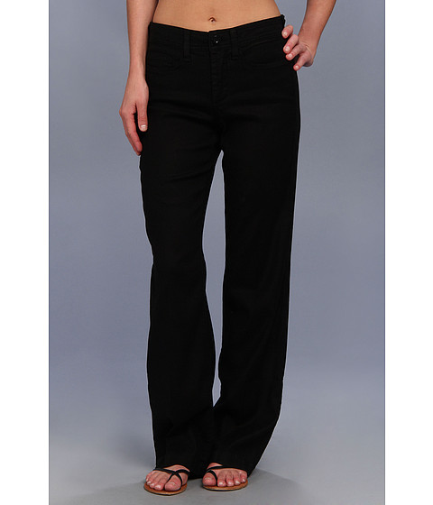 NYDJ - Wylie Trouser Linen-Blend (Black) Women's Casual Pants