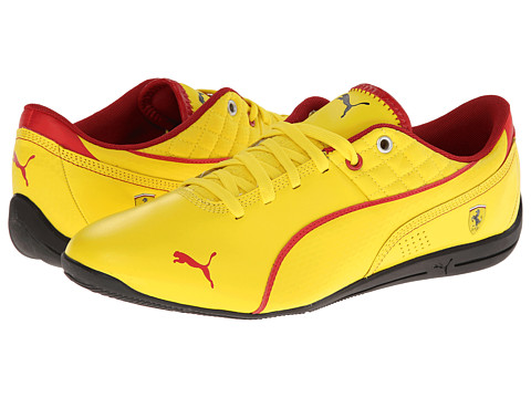 PUMA - Drift Cat 6 Ferrari (Vibrant Yellow/Black) Men's Shoes