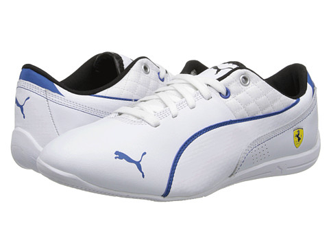 PUMA - Drift Cat 6 Ferrari (White/Classic Blue) Men's Shoes