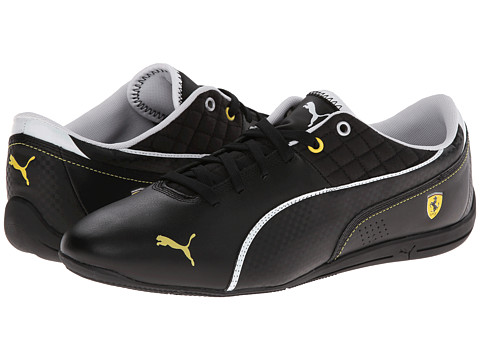 PUMA - Drift Cat 6 Ferrari (Black/White) Men's Shoes