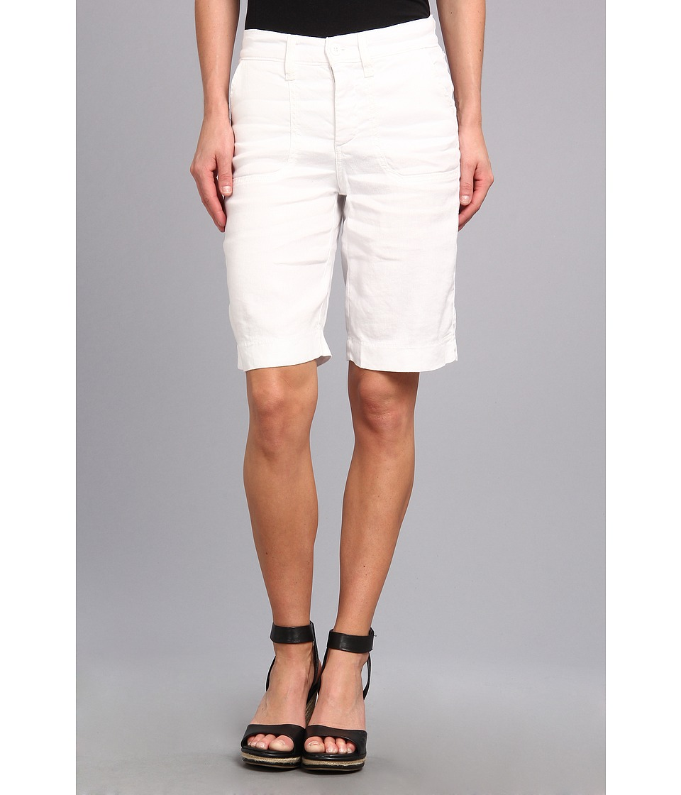 NYDJ - Catherine Short Linen-Blend (Optic White) Women