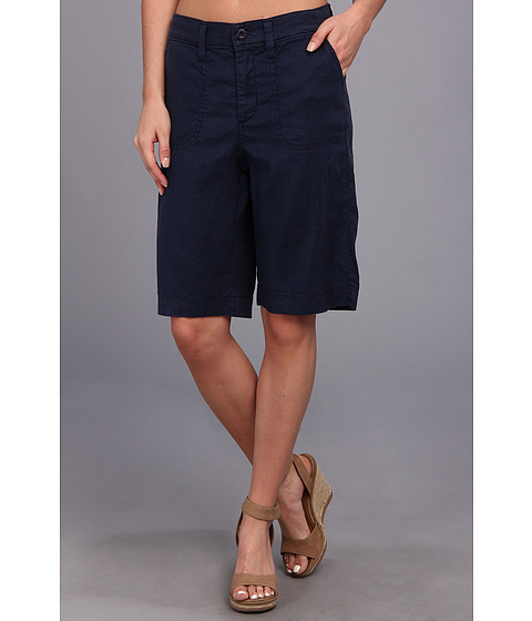 NYDJ - Catherine Short Linen-Blend (Commander Blue) Women