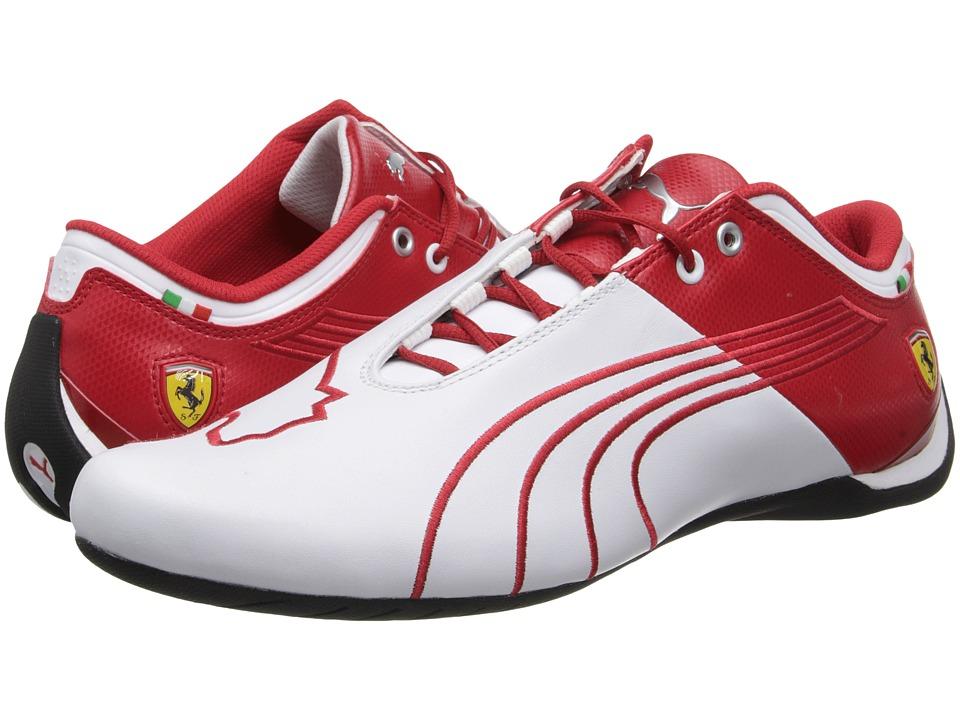 PUMA - Future Cat M1 Ferrari Catch (White/Rosso Corsa) Men's Shoes