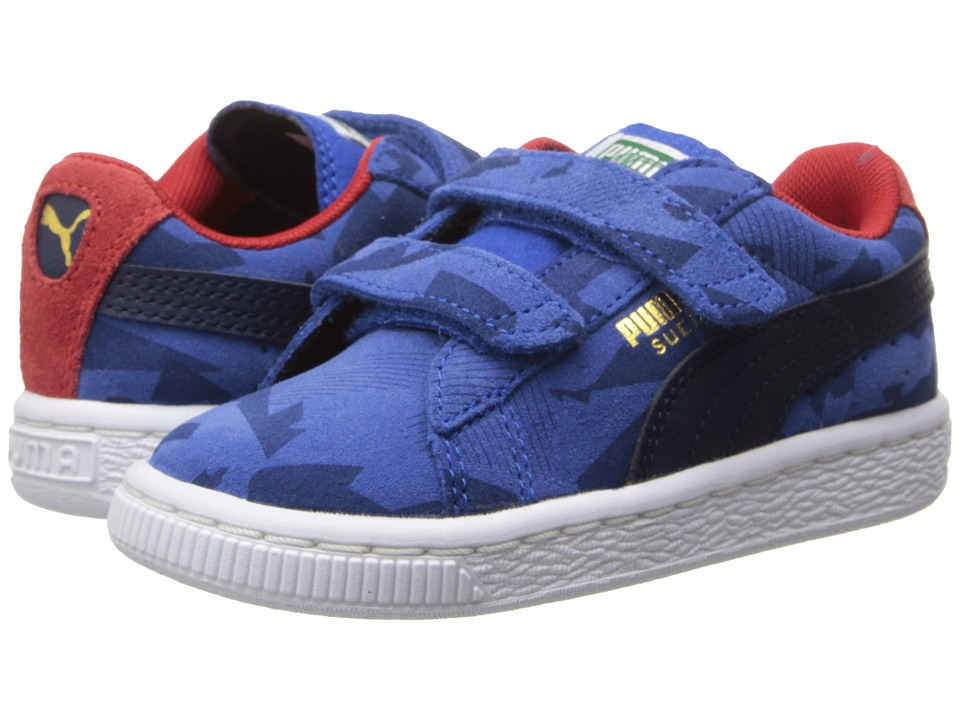 Puma Kids - Suede Camo V (Toddler/Little Kid/Big Kid) (Nautical Blue/Peacoat/High Risk Red) Boys Shoes