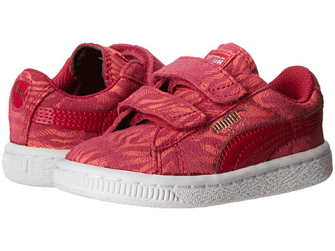Puma Kids - Suede Animal V (Toddler/Little Kid/Big Kid) (Cerise/Dubarry/Gold Foil) Girls Shoes