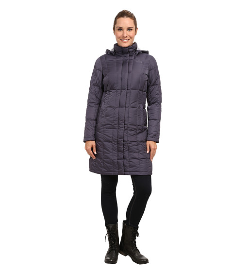 The North Face - Metropolis Down Parka (Greystone Blue) Women's Coat