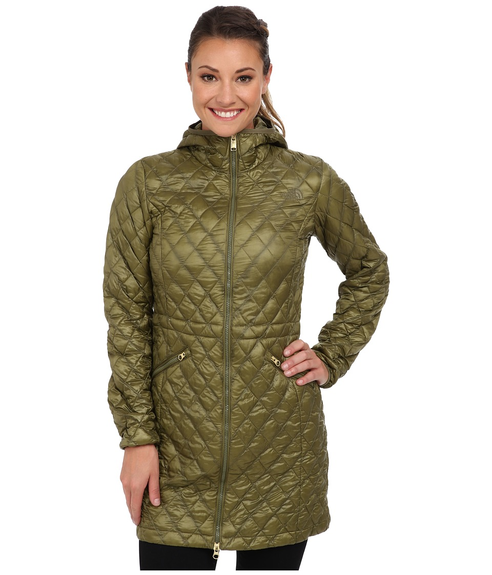 The North Face - ThermoBall Parka (Burnt Olive Green) Women's Coat