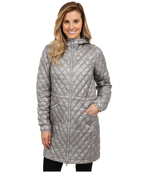 The North Face - ThermoBall Parka (Metallic Silver) Women