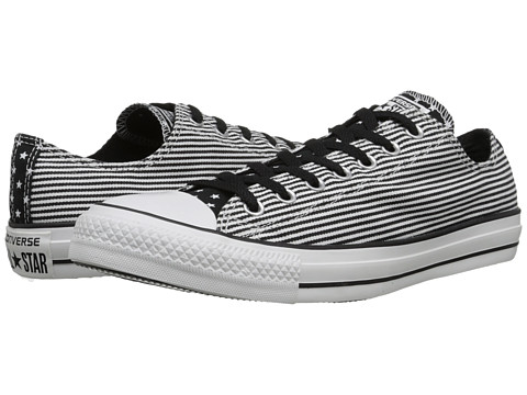 Converse - Chuck Taylor All Star Stars Bars Ox (White/Black) Lace up casual Shoes