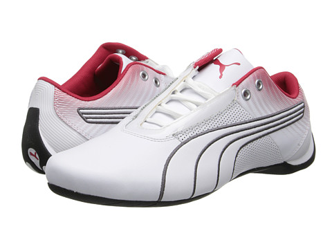 PUMA - Future Cat S1 Graphic Pack (White/White/Crimson) Shoes