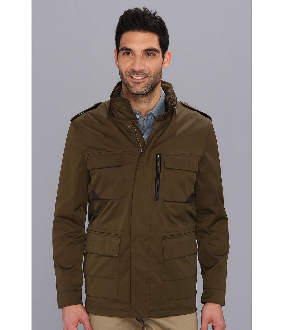 Cole Haan - Coated Field Jacket (Peat) Men's Jacket