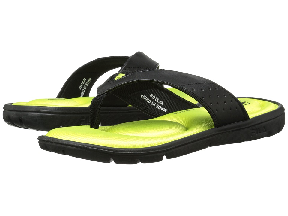 Fila - Amazen Memory (Black/Neon Green) Women's Shoes