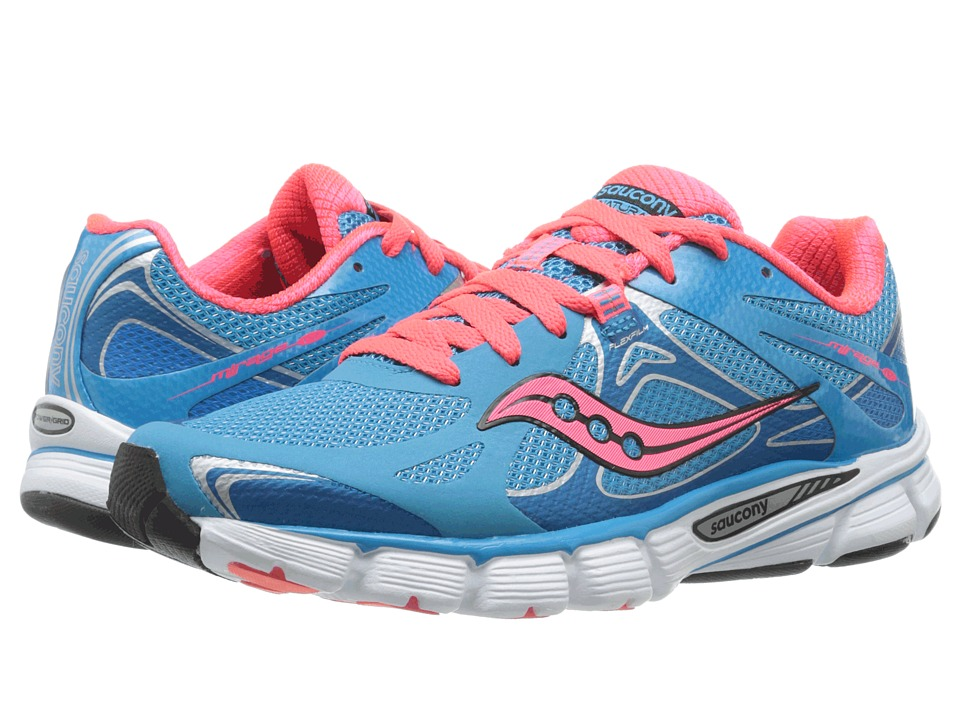 Saucony - Mirage 4 (Blue/Vizi Coral) Women's Running Shoes
