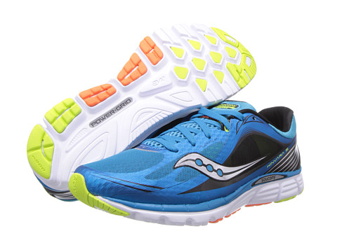 Saucony - Kinvara 5 (Blue/Black/Citron) Men's Running Shoes