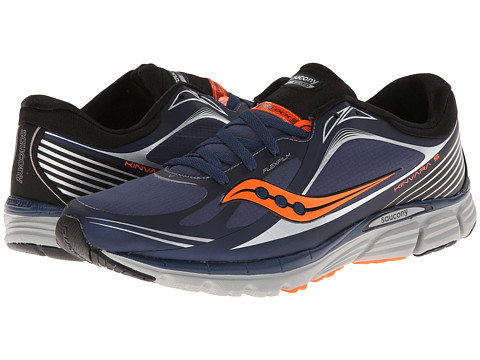 Saucony - Kinvara 5 Flex Shell (Navy/Vizi Orange) Men's Running Shoes