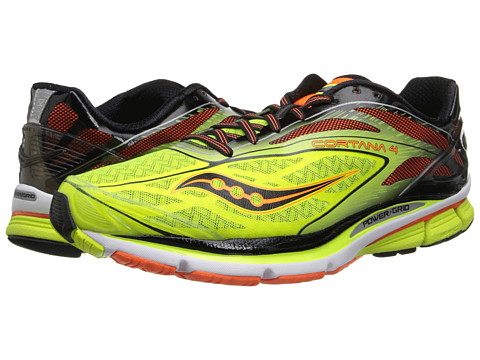 Saucony - Cortana 4 (Citron/Orange/Black) Men's Running Shoes
