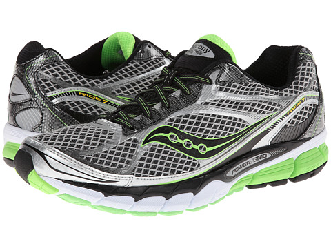 Saucony - Ride 7 (Silver/Black/Slime) Men's Running Shoes