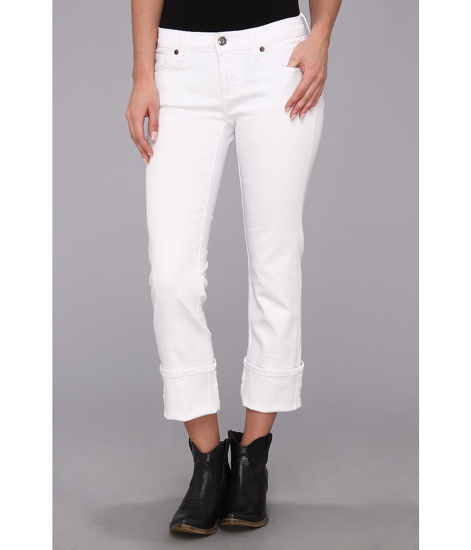 Stetson - White Stretch Denim Crop Pant (White) Women