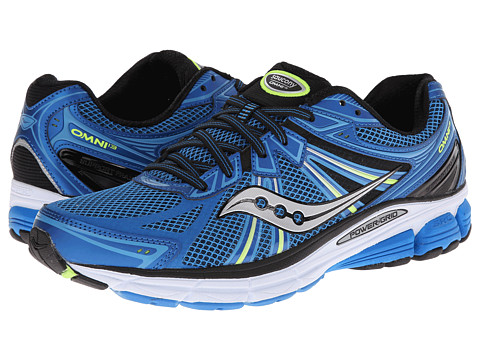 Saucony - Omni 13 (Blue/Citron) Men's Running Shoes