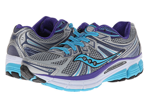 Saucony - Omni 13 (Silver/Blue/Purple) Women's Running Shoes