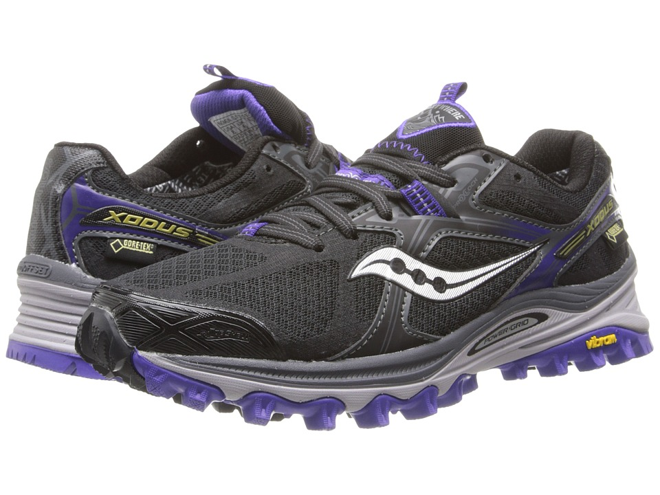 Saucony - Xodus 5.0 GTX (Black/Purple) Women's Running Shoes
