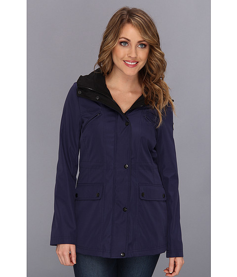 Jessica Simpson - Full-Zip Anorak w/ Zip-Out Hood (Navy) Women's Coat